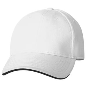 100% Brushed Cotton Twill Structured Sandwich Cap Thumbnail